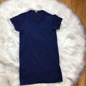Lululemon Navy Blue Swiftly Tech Short Sleeve Top